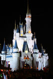 Disney's Magic Castle Florida at Night Royalty Free Stock Photography