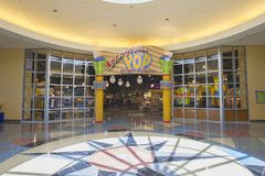 Disney`s Pop Century Resort Shopping And Dining. Disney`s Pop Century Resort interior shopping and dining in Lake Buena Vista, Florida stock images