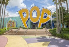 Disney`s Pop Century Resort Rear Entrance, Exit. The rear entrance, exit for the pool at Disney`s Pop Century Resort in Lake Buena Vista stock photos