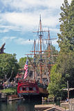 Disney's Sailing Ship Columbia. Docked in it's home at Disneyland Royalty Free Stock Photos