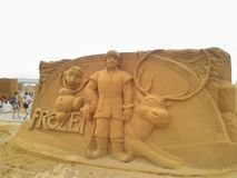 Disney sand magiska Ostende - haveri royaltyfri bild