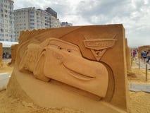 Disney sand magiska Ostende - haveri arkivfoto