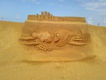 Disney sand magiska Ostende - haveri arkivfoton