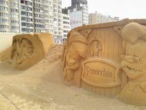 Disney sand Ostende arkivfoton