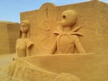 Disney sandmagi Ostende royaltyfri bild
