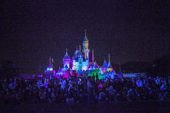 Disney slott Royaltyfri Bild