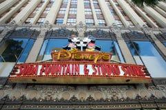 Disney sodavattenspringbrunn och studiolager Royaltyfri Bild
