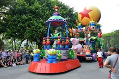 Disney ståtar Hong Kong Royaltyfria Bilder