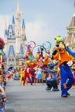 Disney ståtar Main Street USA fotografering för bildbyråer