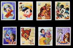 Disney stamp collection Royalty Free Stock Photo