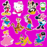 Disney stickers Royalty Free Stock Photo
