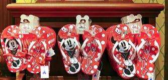 Disney theme flip-flops or slippers Stock Photography