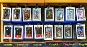 Disney theme iphone cases at disneyland hong kong Stock Photography