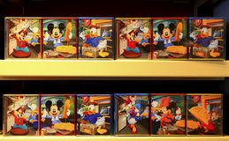 Disney theme food snack boxes Stock Image