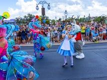 Disney-Wereld mal Orlando Florida Magic Kingdom Parade stock afbeeldingen