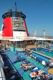 The Disney Wonder's pool under California sky Stock Image