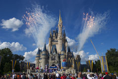 Disney world. This picture was taken during end of Oct, 2012. It was a live play at the Disney Castle in Magic Kingdom, Disney World, Orlando, Florida, USA stock photography