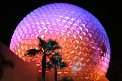 Disney World Epcot. Globe in Florida at night Stock Images