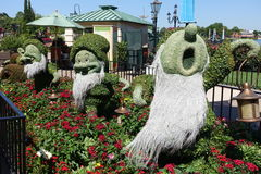 Disney World Epcot International Flower and Garden Festival Stock Images