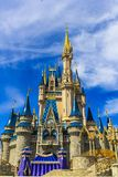 Disney world Florida Cinderella princess castle with beautiful blue sky. Walt Disney Florida Cinderella's princess castle Stock Image
