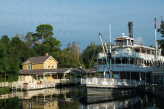 Disney World Frontierland Riverboat Travel Royalty Free Stock Image