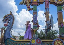 Disney World Orlando Florida Magic Kingdom parade peter pan. Peter pan  during parade at  walt disney world orlando florida Stock Photo