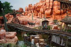 Disney World Thunder Mountain Roller Coaster Royalty Free Stock Images