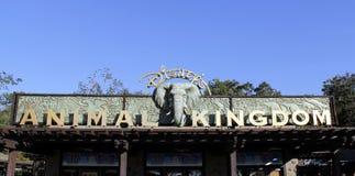 Disney Worlds Animal Kingdom sign stock photography