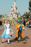 DISNEYLÂNDIA PARIS - 11 DE MARÇO DE 2016: alguns caráteres de Disney foto de stock royalty free