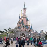 Disneyl?andia Paris 1? Anniversarry fotografia de stock royalty free