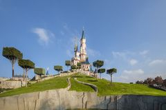 Disneyland Παρίσι, Γαλλία, το Νοέμβριο του 2018: Castle της ομορφιάς ύπνου στοκ φωτογραφία με δικαίωμα ελεύθερης χρήσης