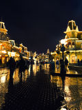 Disneyland Παρίσι, Μαρτίου 2012, κεντρικός δρόμος ΗΠΑ στο ν Στοκ φωτογραφία με δικαίωμα ελεύθερης χρήσης