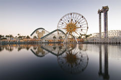 Disneyland Californië de Wijnoogst van het Avontuur stock foto