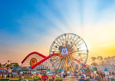 Free Disneyland California Adventure Sunset In The Summer Stock Photography - 138588472