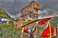 Disneyland California Tower of Terror HDR Stock Photos