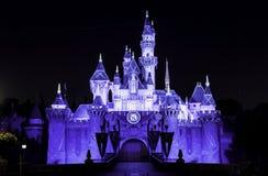 Disneyland Castle κατά τη διάρκεια του εορτασμού διαμαντιών στοκ εικόνες