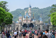 Disneyland Castle, Hong Kong Royalty Free Stock Photography