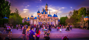 Disneyland Castle. Princess castle in Disneyland, Anaheim California Stock Image