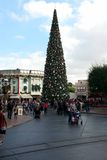 Disneyland Christmas tree on Main Street Royalty Free Stock Photos