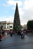 Disneyland Christmas tree on Main Street Royalty Free Stock Photos