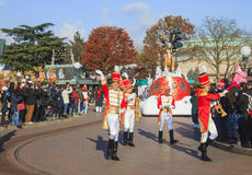 Disneyland - desfile en tiempo de la Navidad Fotos de archivo libres de regalías