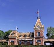 Disneyland drevstation arkivfoto