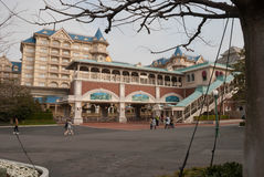 Disneyland drevstation royaltyfria bilder