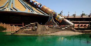 Disneyland  - entrance of the submarine Nautilus Royalty Free Stock Photos