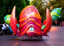 Disneyland Fantasy Parade Under the Sea Character. Disneyland has thousands of visitors each day that come to watch the Fantasy Parade - complete with floats of Stock Image