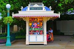 Disneyland fiorisce il boutique della via fotografia stock