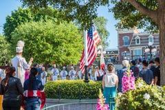 Disneyland flag retreat ceremony. Stock Photography