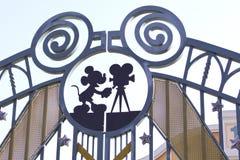 Disneyland park gate Stock Photo