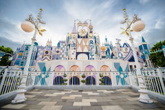 Disneyland HK. Hong Kong Disneyland is located on reclaimed land in Penny's Bay, Lantau Island. It is the first theme park located inside the Hong Kong Royalty Free Stock Photography