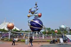 Disneyland in Hong Kong. Orbitron on Tomorrowland in Disneyland, Hong Kong Royalty Free Stock Photo